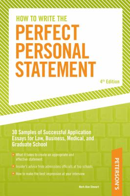 cover of the book Peterson's How to Write the Perfect Personal Statement