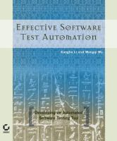 Effective software test automation [electronic resource] : developing an automated software testing tool