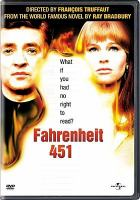 Fahrenhiet 451 DVD cover