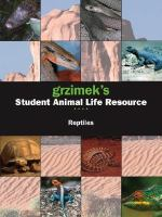 Grzimek's student animal life resource. Reptiles