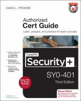 CompTIA security+ SY0-401 authorized cert guide.