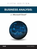 Business analysis with Microsoft Excel /
