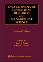 Encyclopedia of operations research and management science [electronic resource]