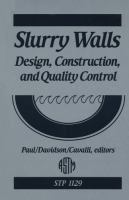 Slurry walls [electronic resource] : design, construction, and quality control
