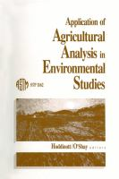 Application of agricultural analysis in environmental studies [electronic resource]