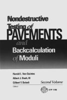 Nondestructive testing of pavements and backcalculation of moduli. Second volume [electronic resource]