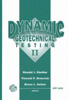 Dynamic geotechnical testing II [electronic resource]