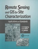 Remote sensing and GIS for site characterization [electronic resource] : applications and standards