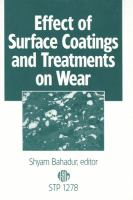 Effect of surface coatings and treatments on wear [electronic resource]
