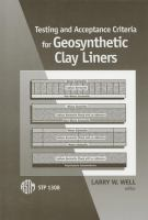 Testing and acceptance criteria for geosynthetic clay liners [electronic resource]