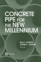Concrete pipe for the new millennium [electronic resource]