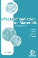 Effects of radiation on materials [electronic resource] : 22nd symposium