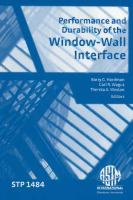 Performance and durability of the window-wall interface [electronic resource]