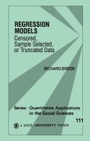 Regression models [electronic resource] : censored, sample selected or truncated data