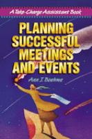 Planning successful meetings and events [electronic resource] : a take-charge assistant book