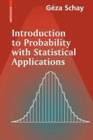 Introduction to probability with statistical applications [electronic resource]