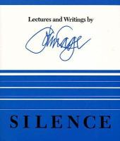 Silence : Lectures and writings by John Cage