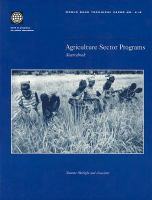 Agriculture sector programs [electronic resource] : sourcebook