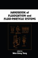 Handbook of fluidization and fluid-particle systems [electronic resource]