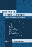 Handbook of polymer degradation [electronic resource].