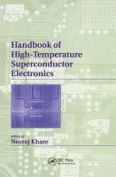 Handbook of high-temperature superconductor electronics [electronic resource]