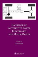 Handbook of automotive power electronics and motor drives [electronic resource]