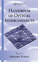 Handbook of optical interconnects [electronic resource]