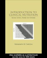 Introduction to clinical nutrition [electronic resource]