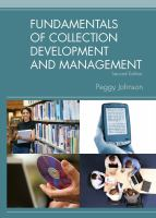 Fundamentals of Collection Development and Management catalog link