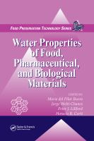 Water properties of food, pharmaceutical, and biological materials [electronic resource]