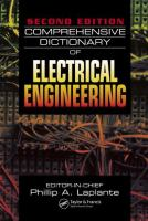 Comprehensive dictionary of electrical engineering [electronic resource]