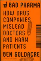 Cover Image of Bad pharma
