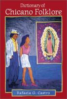 Cover of the book Dictionary of Chicano folklore
