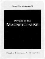 Physics of the magnetopause [electronic resource]