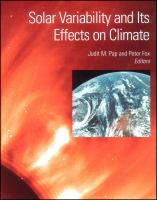 Solar variability and its effects on climate [electronic resource]