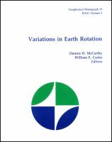Variations in Earth rotation [electronic resource]