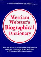 Merriam-Webster's biographical dictionary.