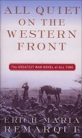 Cover of the book All quiet on the Western front