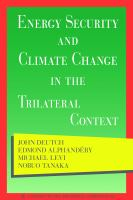 Energy security and climate change in the trilateral context : a report to The Trilateral Commission cover image