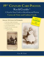 19th Century Card Photos KwikGuide
