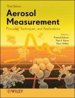 Aerosol measurement [electronic resource] : principles, techniques, and applications