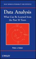 Data analysis [electronic resource] : what can be learned from the past 50 years