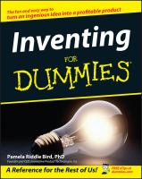 Inventing for dummies [electronic resource]