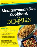Cover Image of Mediterranean diet cookbook for dummies