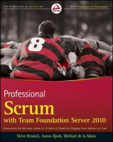Professional Scrum with Team Foundation Server 2010 [electronic resource]