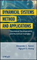 Dynamical systems method and applications [electronic resource] : theoretical developments and numerical examples