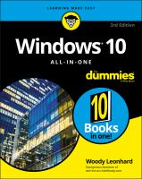 Windows 10 all-in-one for dummies / by Woody Leonhard