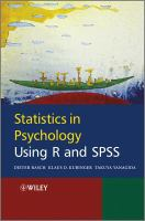 Statistics in psychology using R and SPSS [electronic resource]