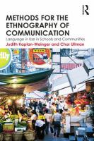 Methods for the ethnography of communication : language in use in schools and communities
