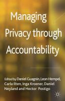Managing privacy through accountability [electronic resource]